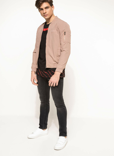DeFacto Basic Slim Fit Mont Pembe